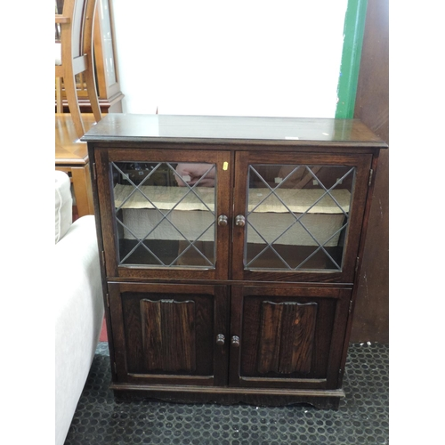 445 - Oak cabinet with linenfold design - 33''x 13''x 43''...