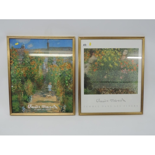450 - 2x framed Monet prints...
