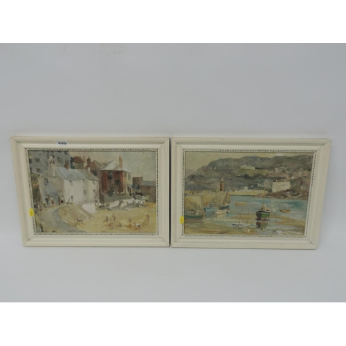 455 - 2x Framed Oil on Boards - Mary Fisher...