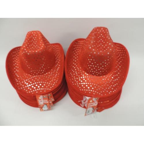 546 - Quantity of Christmas Cowboy hats...