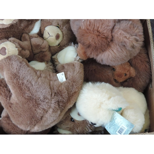 556 - Box of cuddly toys...