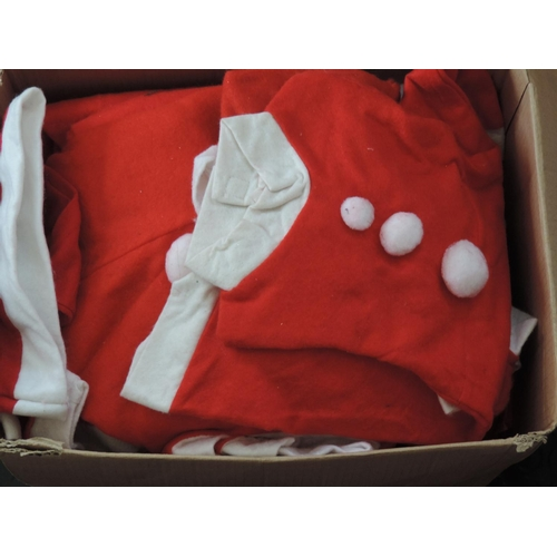 557 - Box of Santa suits...