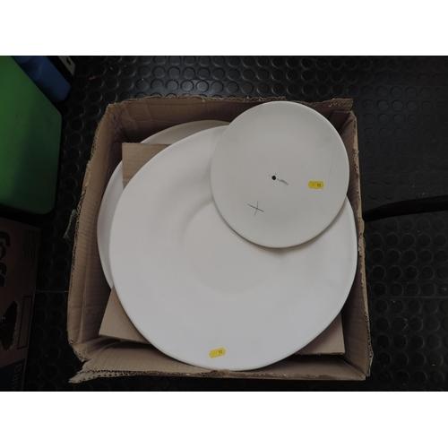 571 - Box of plates...