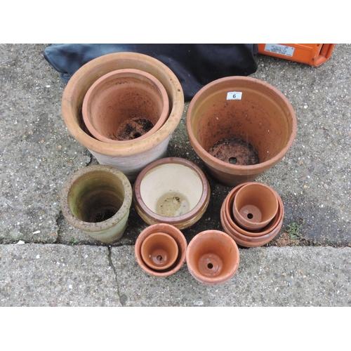 6 - Terracotta pots...