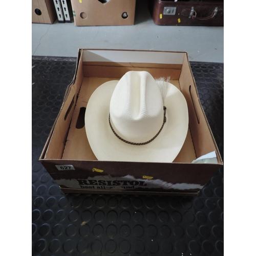 627 - Boxed Resistol Western hat...