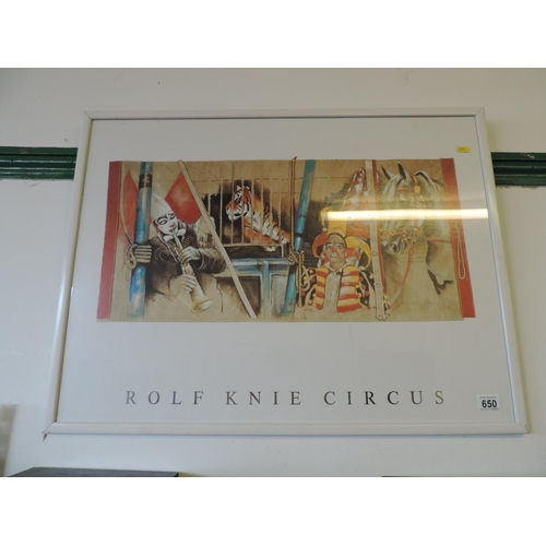 650 - Framed print Rolf Knie - Circus...