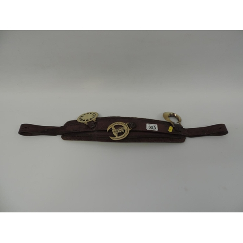 653 - Leather Martingale and full Brasses...