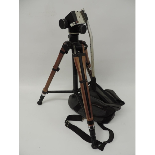 657 - Camera tripod and bag...