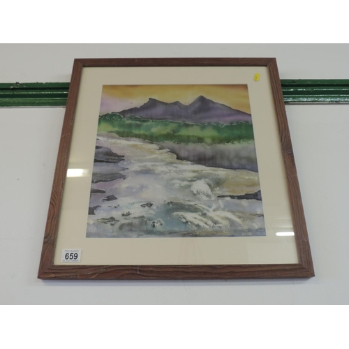 659 - Silk painting - Isle of Skye...