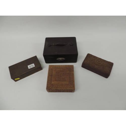 670 - Jewellery boxes...
