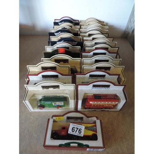676 - Quantity of Days Gone, boxed model van, buses etc...