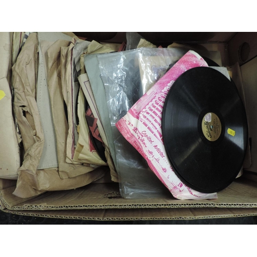 693 - Box of old records...