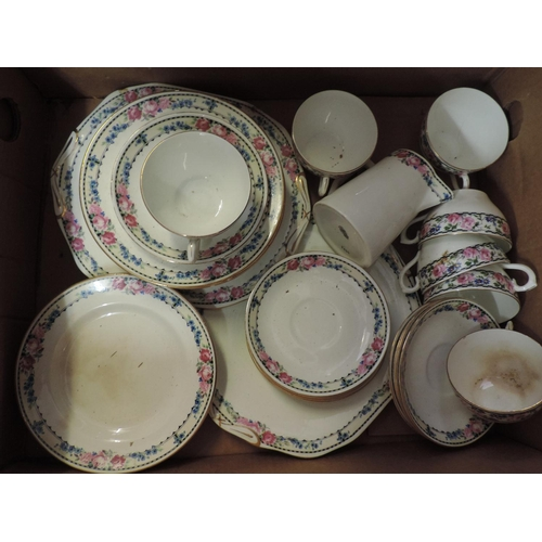 697 - Box of china - part tea service...