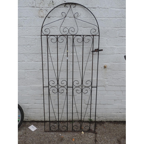 7 - Arched topped garden gate...