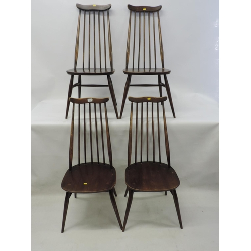 707 - 4x Ercol stick back chairs...