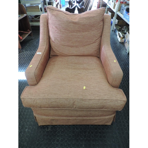 709 - Upholstered armchair...
