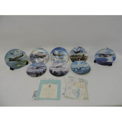 725 - Quantity of collector's plates Coalport, Wedgewood etc - planes...
