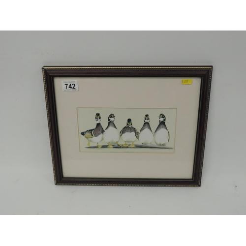 742 - Framed print - ducks...