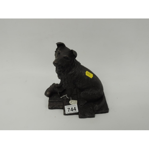 744 - Limited edition sculpture by Michael Tandy - Border Collie...