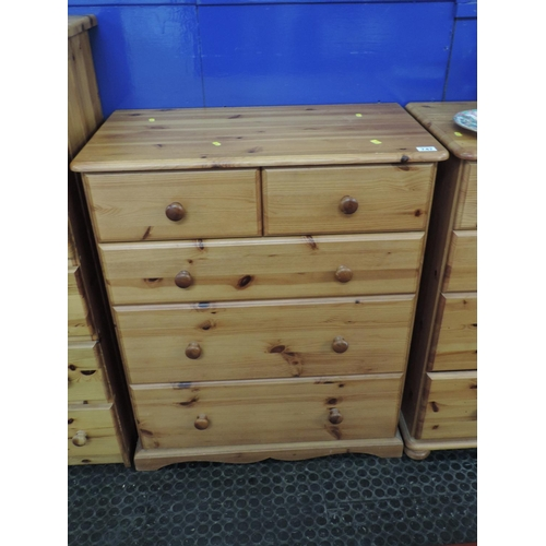 747 - Pine two over three chest of drawers - 31''x 18''x 38''...