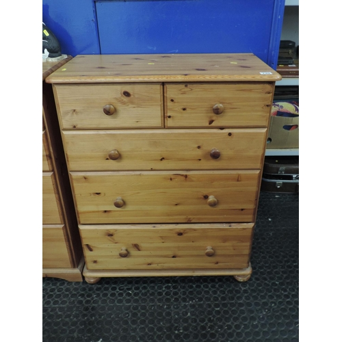 749 - Pine two over three chest of drawers - 31''x 17''x 38''...