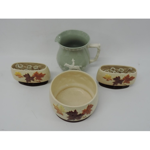 750 - Sylvac planters and Spode jug...