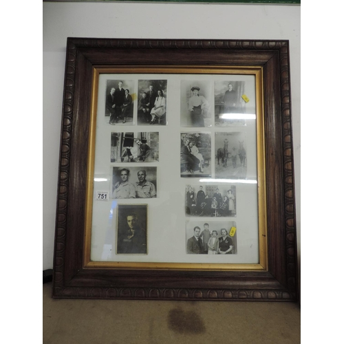 751 - Oak framed photograph...