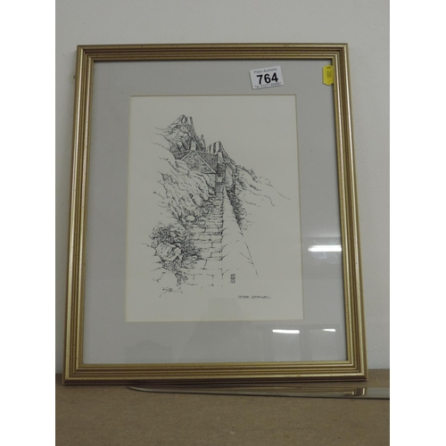 764 - Framed signed print - Peter Rothsmell...