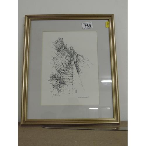 764 - Framed signed print - Peter Rothsmell...