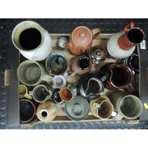 781 - Box of china jugs etc...