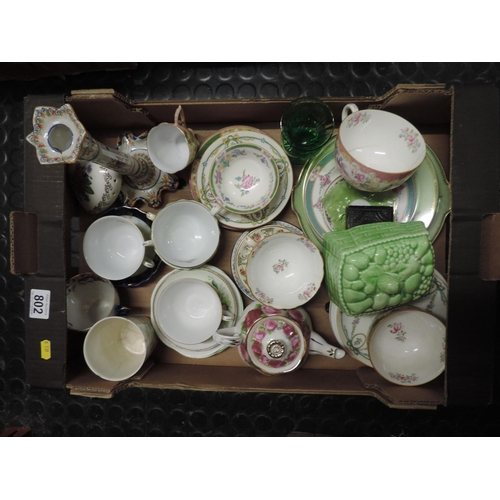 802 - Box of china, Mintons etc...