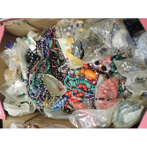 815 - Large quantity of costume jewellery - hard stone necklaces etc...