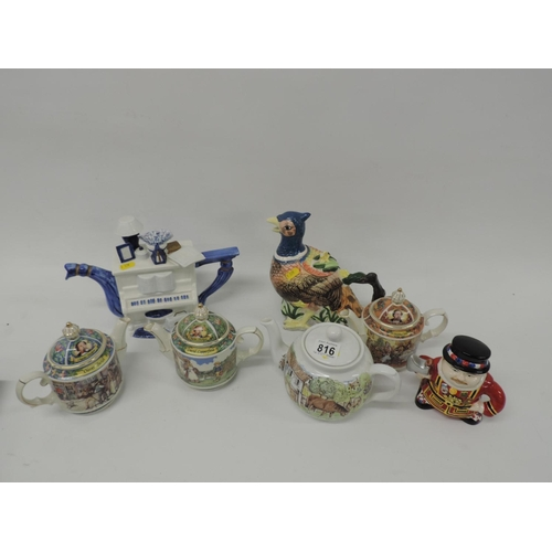 816 - Novelty tea pots...