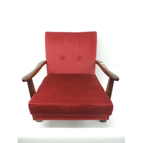 837 - Low seated armchair...