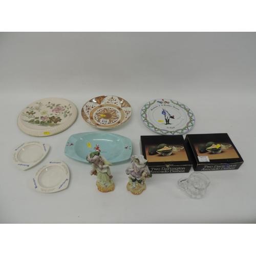 838 - Misc - china, collector's plates, Dartington avocado dishes, ashtrays etc...