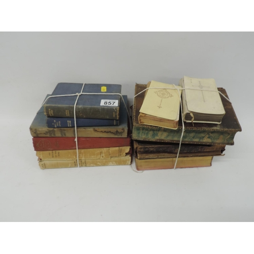 857 - Quantity of Bibles etc...