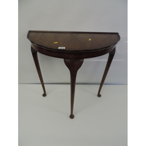864 - Demi-lune hall table...