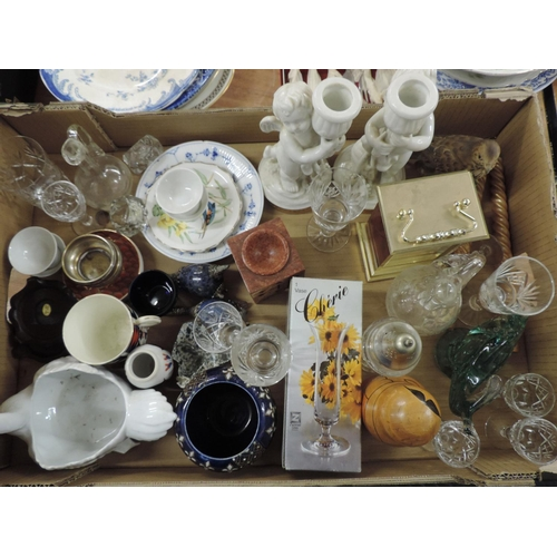 918 - Box of misc - ornaments, china, glassware etc...