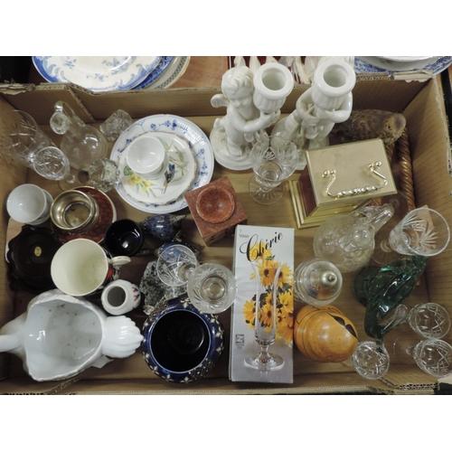 918 - Box of misc - ornaments, china, glassware etc...