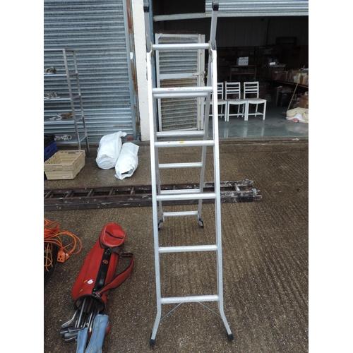 93 - Aluminium ladders...