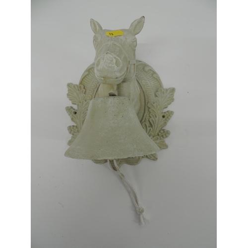 933 - Horse head door bell...