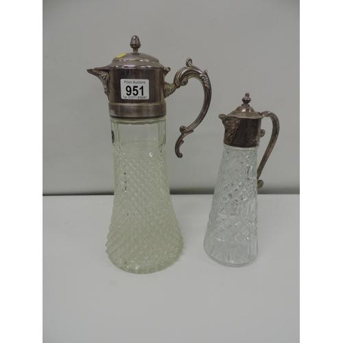951 - 2x Claret jugs...