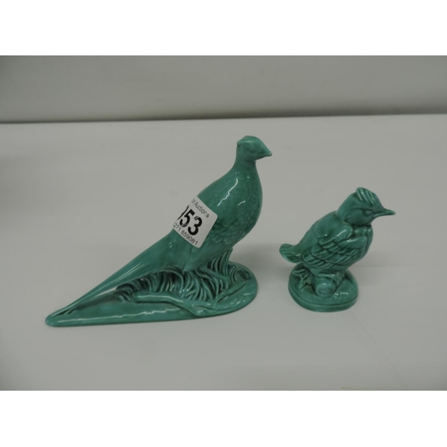 953 - 2x Porcelain birds...