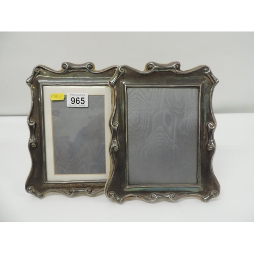 965 - Pair of Silver plated picture frames...