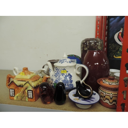 967 - Misc china, tea pots...