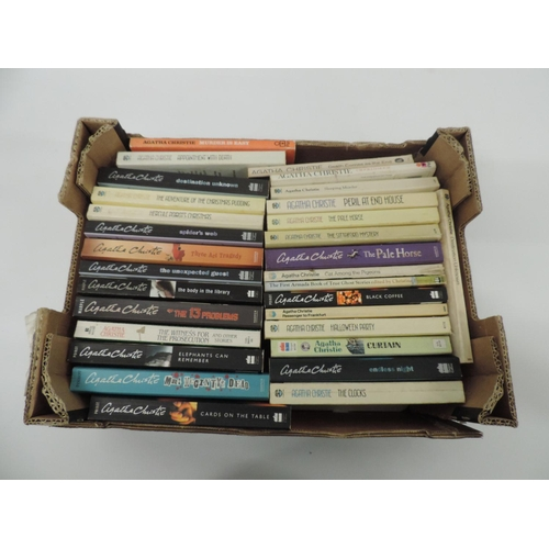 973 - Box of Agatha Christie novels...
