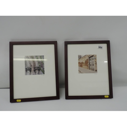 984 - Signed framed photographs...