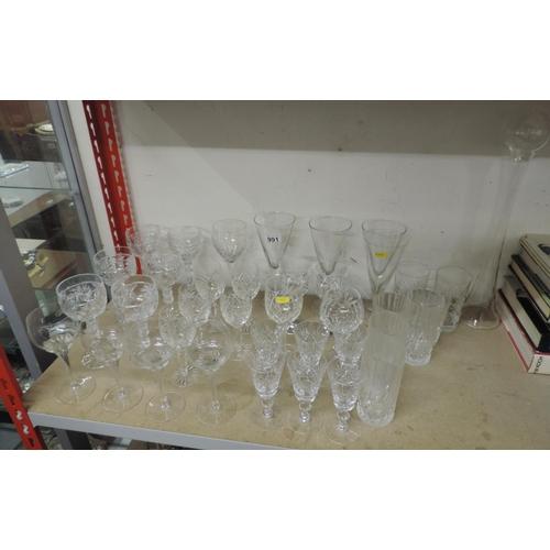 991 - Glassware, Crystal glass etc...