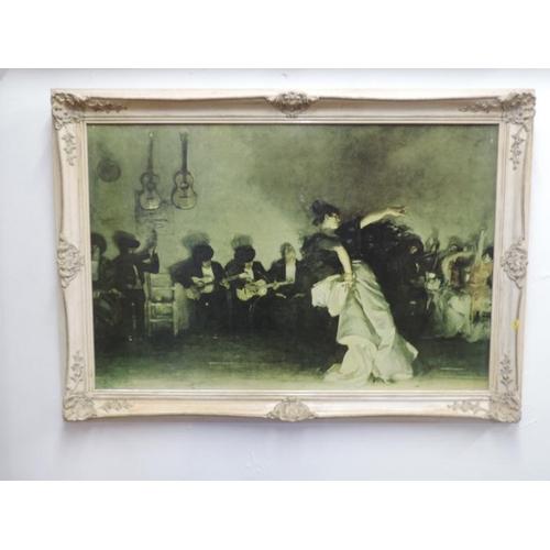 712 - Large ornately framed picture...