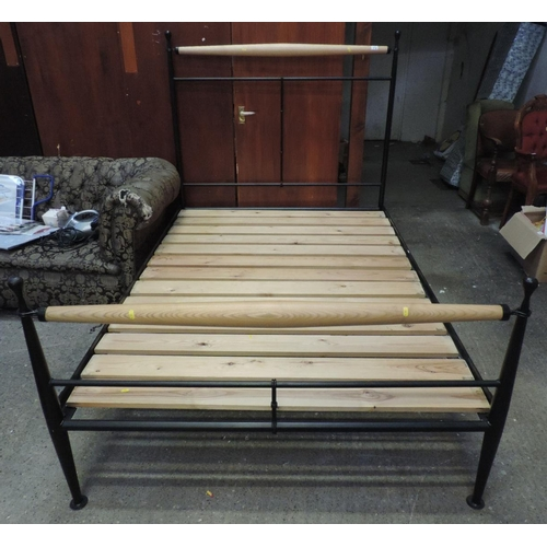 172 - Metal framed double bed...